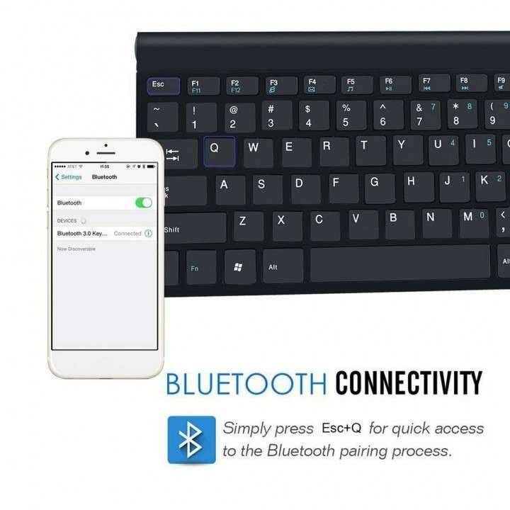 Teclado Bluetooth para Android iOs Windows Wireless - 1