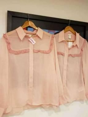 Camisa volado rosado H&M