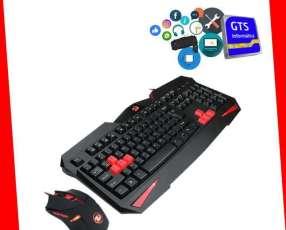 Gamer Redragon teclado Vjara+ mouse Centrop 3200dpi
