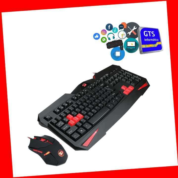 Gamer Redragon teclado Vjara+ mouse Centrop 3200dpi - 0
