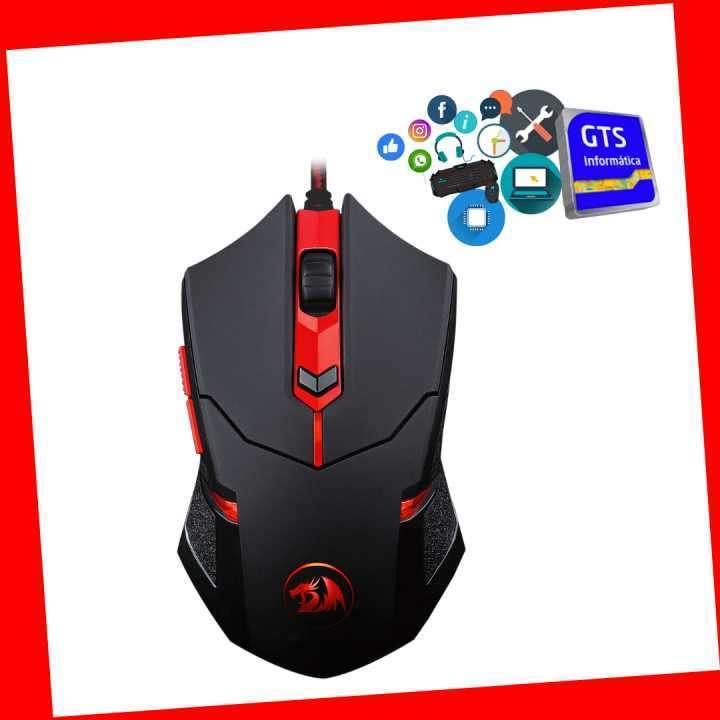 Gamer Redragon teclado Vjara+ mouse Centrop 3200dpi - 1