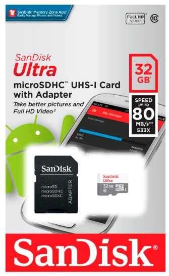 Memory SD 32 gb Sandisk Ultra - 1
