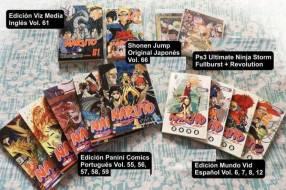 Colección Anime comics Bleach Naruto