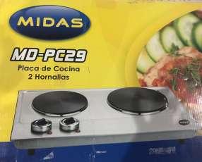 Microondas y placa de cocina