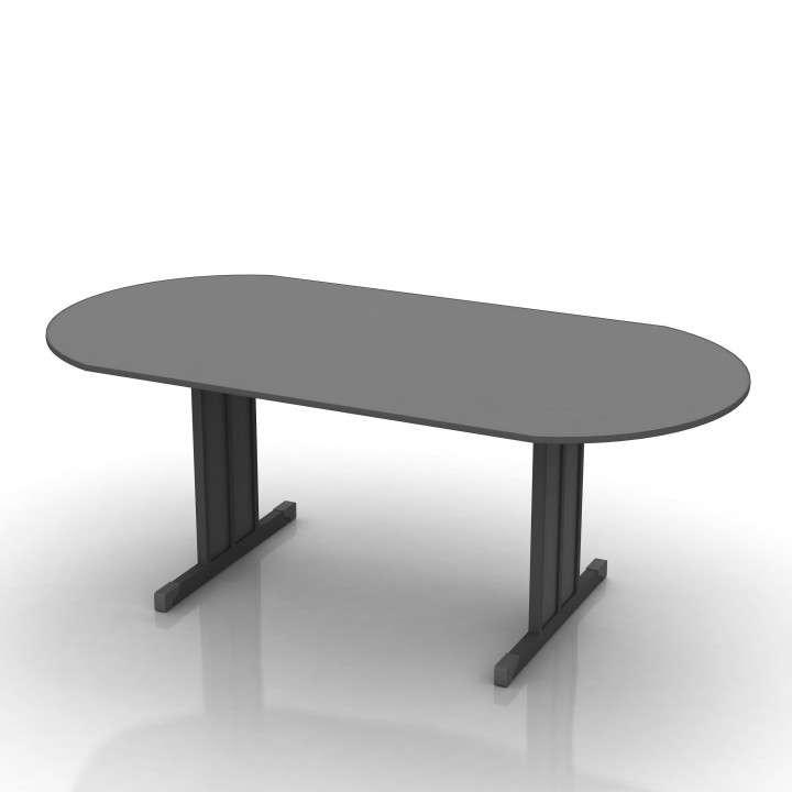 Mesa para sala de juntas ovalada - 0
