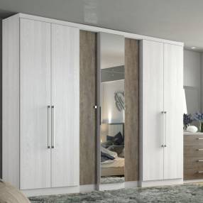 Ropero 7 puertas blanco thb selecto plus glas