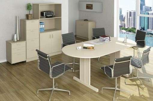 Mesa para sala de juntas ovalada - 1