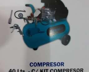 Compresor de 40 litros con kit