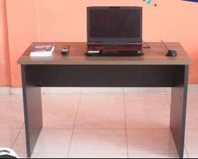 Escritorio secretaria 25 mm 1.20x0.60 cm nogal negro