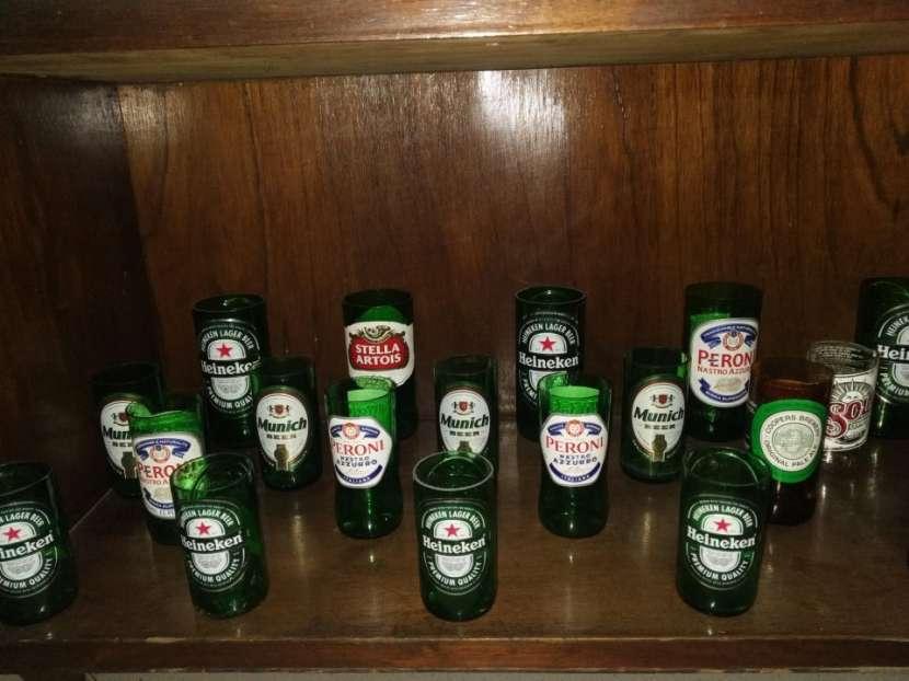 Vasos Artesanales - botellas de vidrio - 2