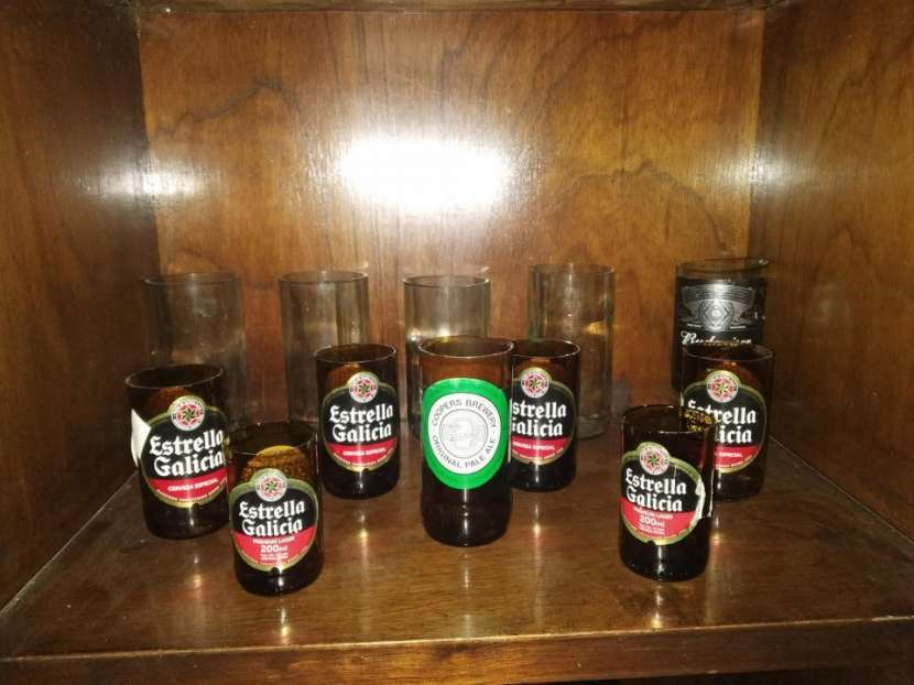 Vasos Artesanales - botellas de vidrio - 4