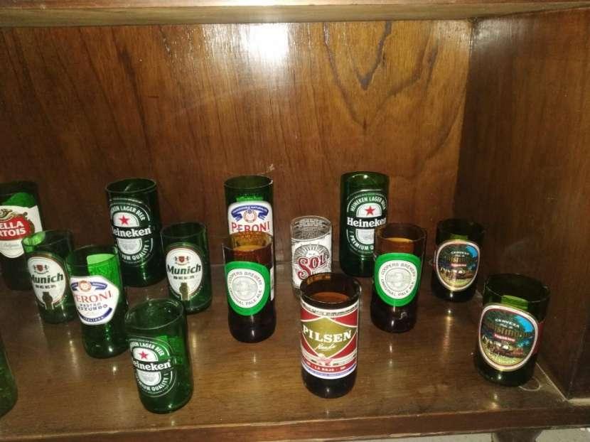 Vasos Artesanales - botellas de vidrio - 6