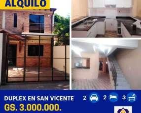Duplex en San Vicente a metros de Félix Bogado