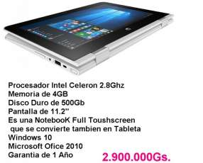 NOTEBOOK HP X360 modo TABLETA