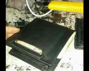 Billeteras de cuero puro