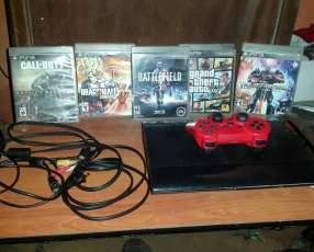 Playstation 3 con 5 juegos en fisico y 3 en digital