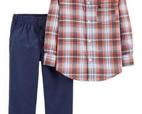 Conjunto de camisa con pantalón para nenes de 2 y 3 años