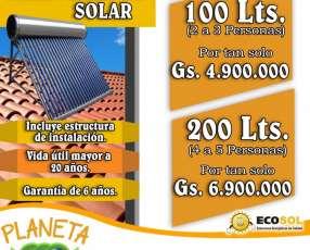 Termocalefón Solar de Ecosol