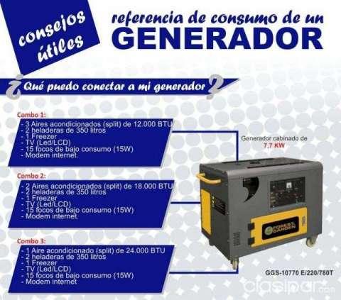 Generador cabinado 7.7 KVA