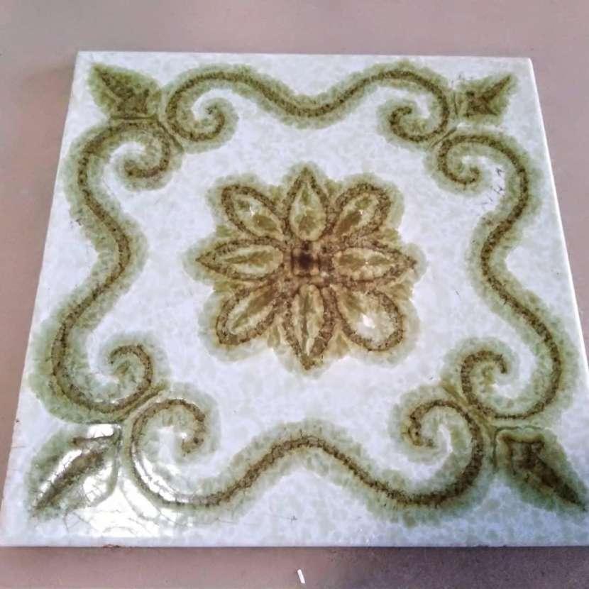 Azulejos antiguos importados para mosaico - 2
