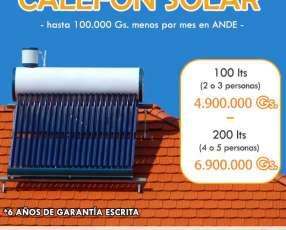 Termocalefón solar