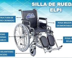 Silla de ruedas elpi con relajación de piernas