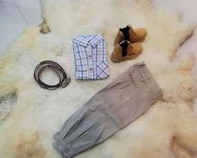 Calzado ranchero kids y conjunto de ropas