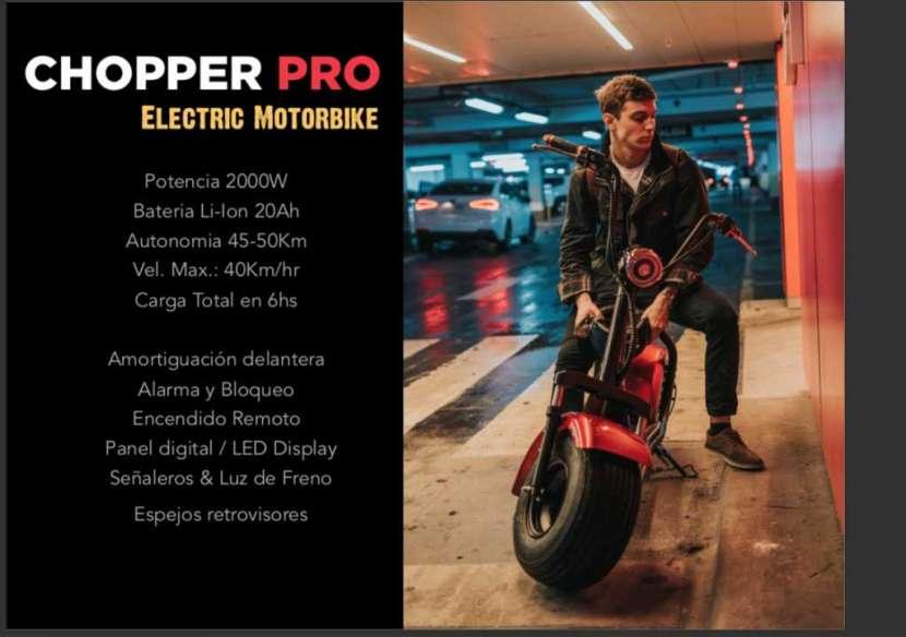 Moto eléctrica chooper pro - 0