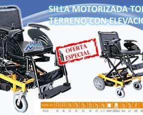 Silla de ruedas motorizada con elevación