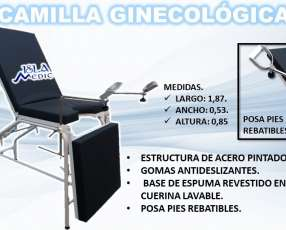 Camilla de examinación ginecológica