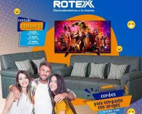 Sofá y TV AOC