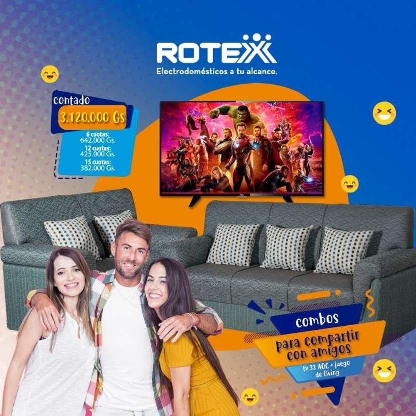 Sofá y TV AOC - 0