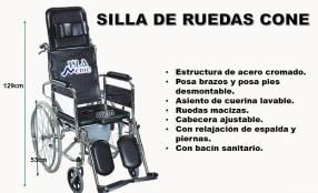 Silla de ruedas cone con opción sanitaria