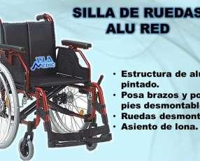 Silla de ruedas alu red