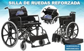 Silla de ruedas reforzada con acolchado