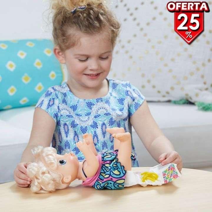 Muñeca Baby Alive Super Snacks Bebé Espagueti Rubia de Hasbr - 2