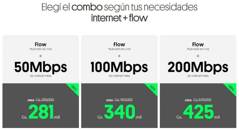 Internet fibra óptica + tv flow - 1