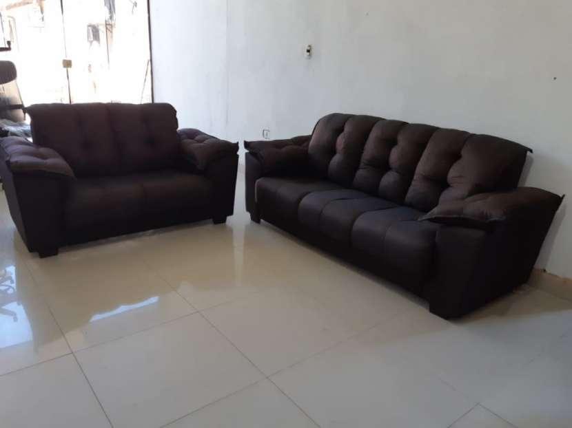 Juego de living sofá abba quebec 3 y 2 lugares - 2