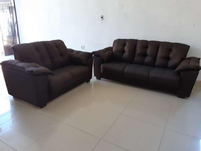 Juego de living sofá abba quebec 3 y 2 lugares - 1
