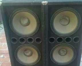Cajas con parlantes de 15 pulgadas mega bass