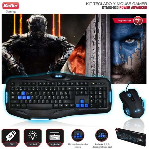 Kit mouse y teclado gamer Kolke Power Advanced KTMIG-530 - 0