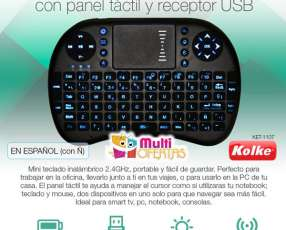 Mini teclado inalambrico retroiluminado para Smart TV Kolke