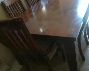 Juego de mesa c/ 8 sillas