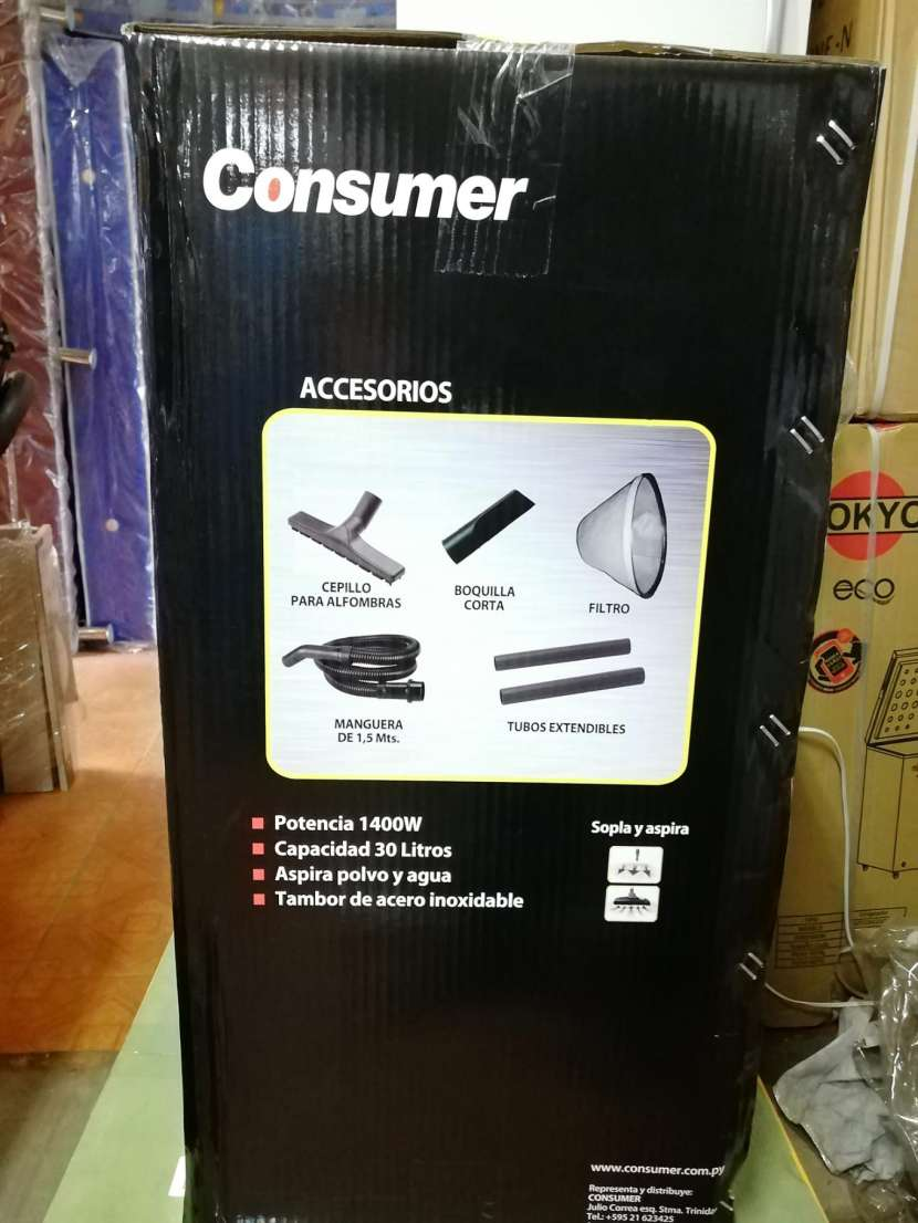 Aspiradora Consumer 30 litros inoxidable - 2