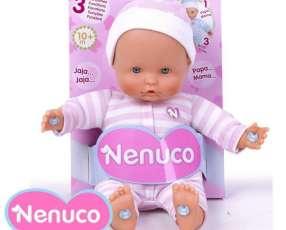 Muñeca Nenuco blandito con 3 funciones de 25 cm