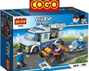 Set de Construcción de Policias con 290 piezas de Cogo Block