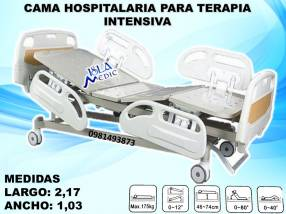Cama hospitalaria de cinco movimientos p/ terapia intensiva
