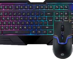 Teclado + mouse HP gaming gk1100 usb esp negro multimedia
