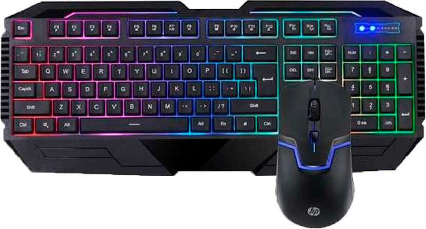 Teclado + mouse HP gaming gk1100 usb esp negro multimedia - 0