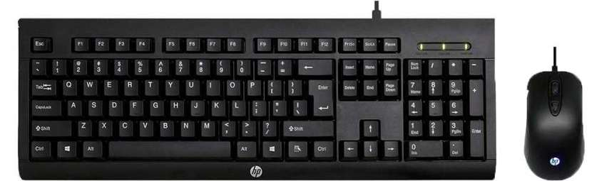 Teclado + mouse HP gaming km100 usb spa negro - 0